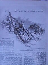 Early Christian Buildings Ireland Skellig Christianity St James Chile Rare 1895