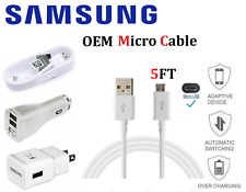 OEM Original Samsung Galaxy S7 S6 Edge J7 Note 5 USB Cord/Car/Wall Charger Cable