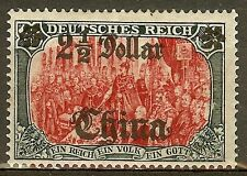 1906 German offices China 2½ Dollar issue mint*, signed $ 234.00