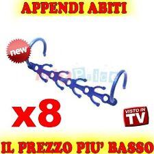 MAGIC APPENDI 8 ABITI SALVE HANGER SPAZIO APPENDI ABITI STAMPELLE GRUCCIA TV gvw