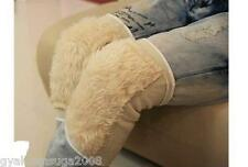 1 Pair Unisex Soft Artificial Wool Knee Support Warmers