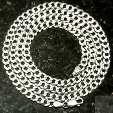 "Curb 100-24"" 4.5mm Heavy 12.2 Gram Italian Link .925 Sterling Silver Chain 24"""