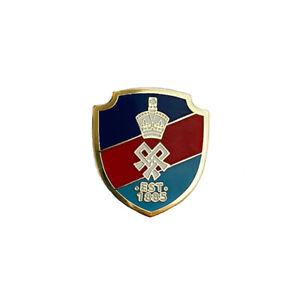 Lapel Pin Enamel Red Blue Stripe Shield Shape for SSAFA Jewellery