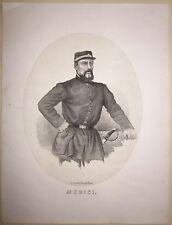 1862 GIACOMO MEDICI litografia Terzaghi spedizione dei mille senatore generale