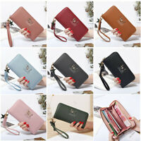 Women Wallet Wrist Handle Phone Case Long Section Handbag Money Coin