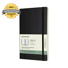 Moleskine Planner Diary 2019 18M Weekly Notebook Large Black Soft Cover...