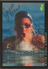 Janet Evans 1992 Classic World Class Autograph #6