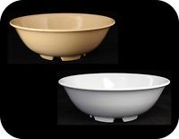 """Vintage Melamine 8"""" Rimless Fruit Bowl Menudo Soup Cereal Salad Bowl 41oz US5070"""
