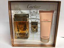 CARTIER LA PANTHERE 3 PCS Gift Set Women 2.5 oz / 75 ml EDP SPRAY WOMEN NIB