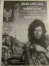 Robert Plant, Led Zeppelin, Now and Zen, Full Page Promotional Ad