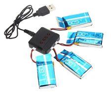 Pack 4 Baterias 3.7V 600mAh con Cargador DRON Syma X5C X5C-1 X5c X5a H5C X5-SW
