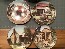 Set of 8 Hamilton Signature Collection Collector Plates Quilted Countryside