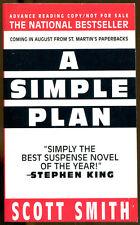 A Simple Plan by Scott Smith-St. Martin's Paperbacks Advance Reading Copy-1994