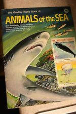 The Golden Stamp Book Of Animals Of The Sea 1976 SOME STICKERS MISSING