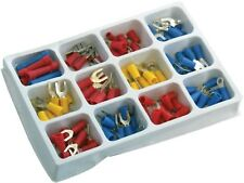 100 PC ASSORTED ELECTRICAL INSULATED WIRE TERMINALS CRIMP CONNECTORS SPADE SET
