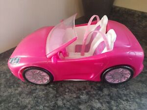 Mattel Barbie Car / Pink Convertible Car 2010 / Toy Sports Car / Doll Accessory