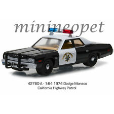 GREENLIGHT 42780 A 1974 DODGE MONACO CALIFORNIA HIGHWAY PATROL POLICE 1/64 CHP