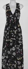 H&M Conscious Ladies Sleeveless V-Neck Empire Waist Chiffon Maxi Dress 8 NWT