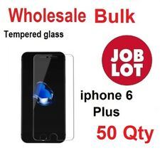 50X Wholesale Job Lot bulk Tempered Glass Screen Protector for iphone 6 Plus