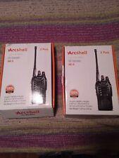Arcshell rechargeable long range two-way radios Ar5 set of 4