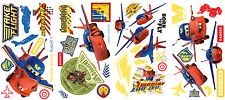 Disney Cars Wall Decals AIR MATER & LIGHTNING MCQUEEN HAWK 44 Stickers Decor