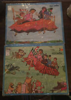 2 Bedknobs And Broomsticks Tray Jigsaw Puzzle  Vintage Jaymar 30 piece