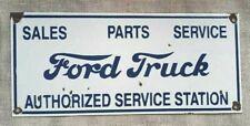 """Vintage Ford Truck Porcelain Enamel Sign 18""""x8"""""""
