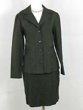 Dressbarn Women Skirt Suit Size 6 Dark Gray Career Work