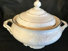 Walbrzych Soup Tureen White with Gold Trim