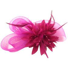 Haarband Stirnband -Blume Kopfschmuck mit Federn Braut Hochzeit Hairpin Clip