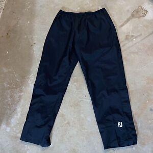 FootJoy Dryjoys Men's XL Black Rain Golf Pants Elastic Waist Zipper Ankle NWOT