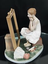 """Rare Lladro Figurine """"Day Dreamer� 1411 By Norman Rockwell"""
