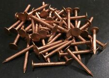 """(50 Pcs) Annular Ring Shank 1 1/2"""" SOLID COPPER Roofing Nails 10 gauge"""