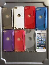 ipod touch 5th 6th S style TPU gel case clear  red  white
