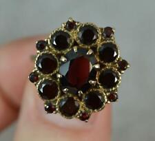 Impressive 9ct Gold and Garnet Cluster Ring f422