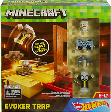 NEW Mattel DPW23 Minecraft Hot Wheels EVOKER TRAP Play Set Minecart Launcher
