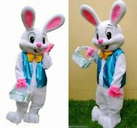 Deluxe Plush Easter Bunny Mascot Costume Bunny Rabbit ...