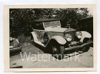 Vintage B/W photo car automobile 1926 Rolls Royce Phaeton