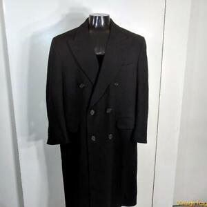 BURBERRYS' Bloomingdales Long Wool Coat Overcoat Mens Size M 40S short black