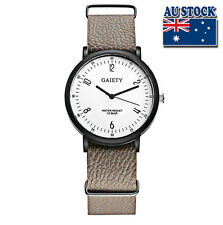 Whole Sale Hot Karki Leather Luxury Men's White Dial Quartz Sports Wrist Watch