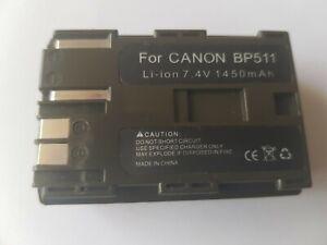 BP-511A Lithium Ion Rechargeable Battery Pack Fits Canon 300D 10D 20D 30D 40D 5D
