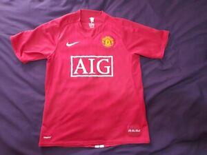 Vintage Original Manchester United Home Shirt 2007/08 Nike AIG Small 2008/09