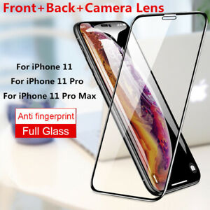 For iPhone 12 11 Pro Max X XR XS Max 8+ 6 5 Tempered Glass Full Screen Protector
