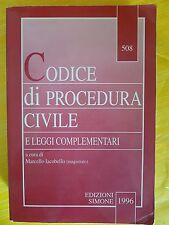 CODICE DI PROCEDURA CIVILE E LEGGI COMPLEMENTARI - EDIZIONI SIMONE 1996