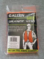 Allen Blaze Orange Safety Vest for Hunting, Construction or Visibility