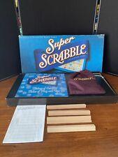 Super Scrabble Board Game 200 Tiles More Spaces 2004 Complete in Box  Hasbro