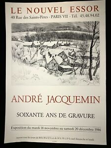 🌓 [AFFICHE EXPO] André JACQUEMIN Soixante ans de gravure Le Nouvel Essor 1986