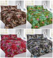 Abby Leaves Duvet Cover Pillow Case Modern Bedding Set Single Double Super King