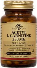 Solgar Acetyl L-Carnitine 250mg 30 Vegetable Capsules