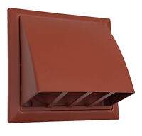 """100mm 4"""" terracotta Cowl with non return flap for tumble dryer or extractor fan."""